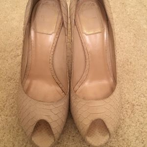 Christian Dior snakeskin ivory heels